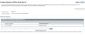 OpenSSO user Attribute Mapping to Salesforce.com user